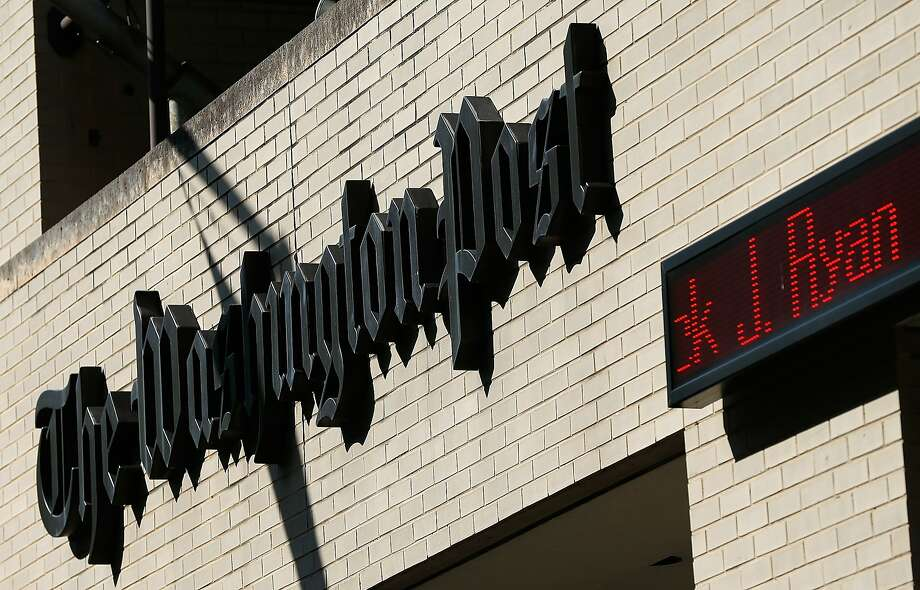 The Washington Post alerts people that its new publisher, Frederick Ryan, will take over in October. Photo: Win McNamee, Getty Images