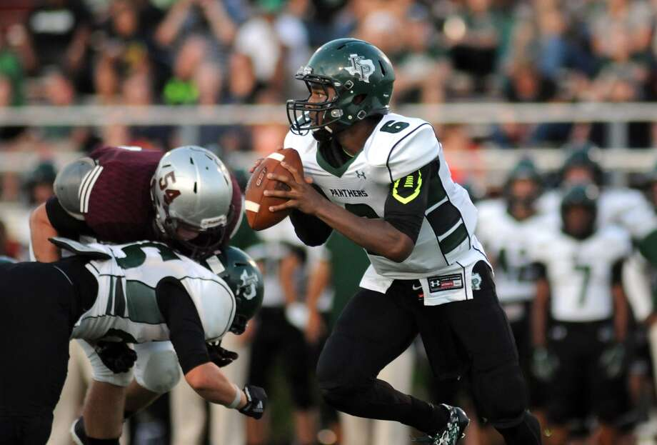 Kingwood Park quarterback Jaylon Henderson and the Panthers face George Ranch in the Class 5A, Region III, Division I area round this weekend. Photo: Jerry Baker, Freelance