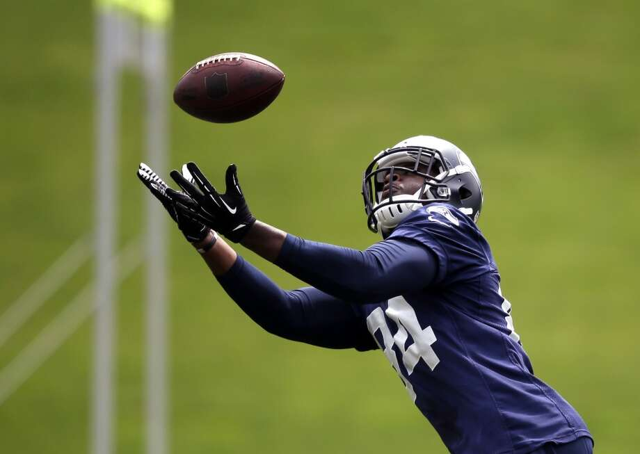 RaShaun Allen — tight end#84 | Age: 24 | College: Southern | Experience: Rookie Preseason: Seattle | Undrafted: Signed 2014 by Seattle Photo: Elaine Thompson, Associated Press