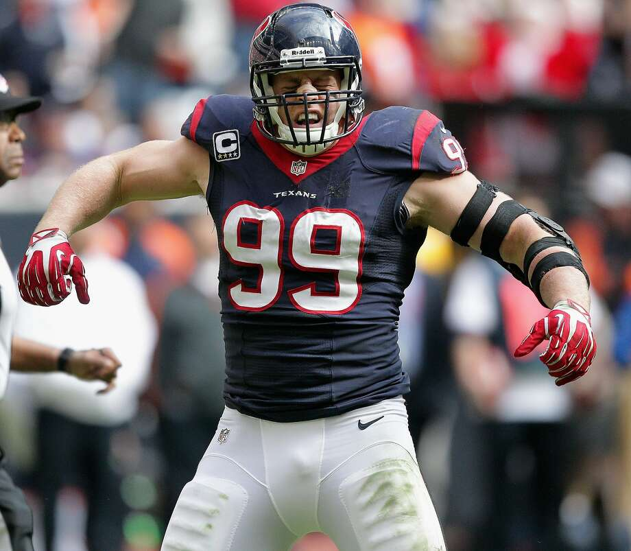 All-Pro defensive end J.J. Watt is reportedly guaranteed $51.8 million under the contract extension he reached with the Houston Texans. Photo: Bob Levey, Getty Images