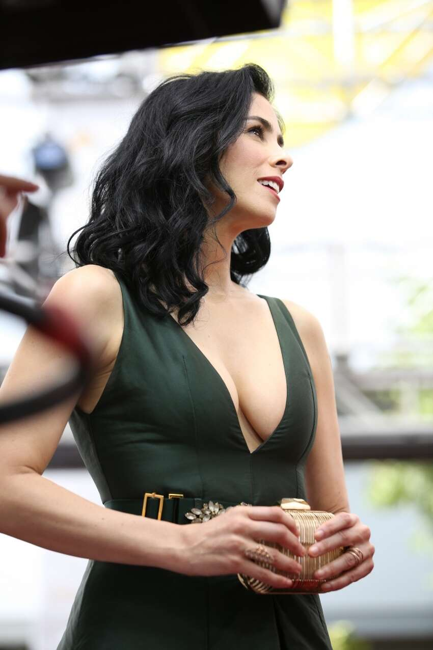 Sara Silverman showed off a lot of ... well ... hutzpah on the red carpet at the Emmys on August 25. She fended off a very in-depth examination of her cleavage when she happily, ironically and ... well ... unabashedly let the host of E! go through her
