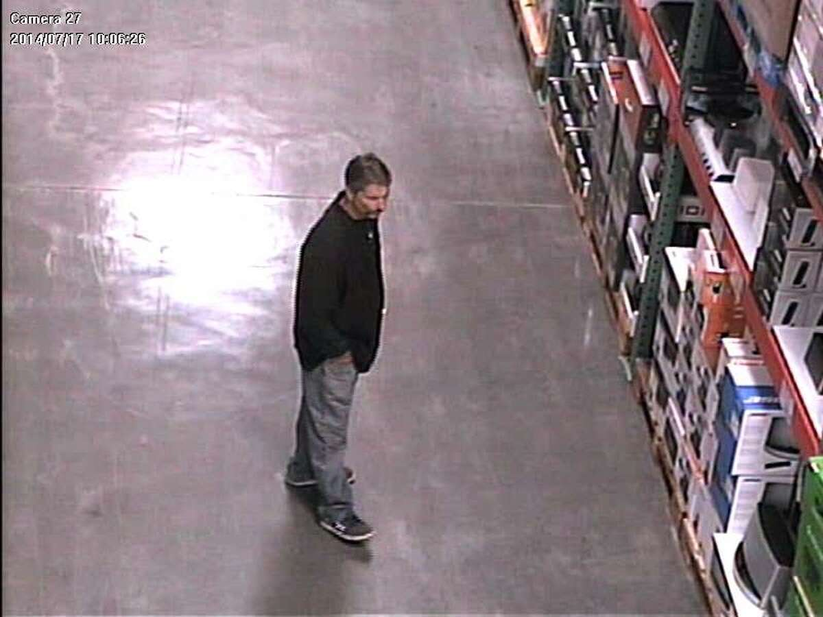 """Santa Cruz police are asking the public for help in identifying a thief who officers have nicknamed """"El Mustachio the Magician."""" Surveillance video caught this image of him during his second heist, July 17."""