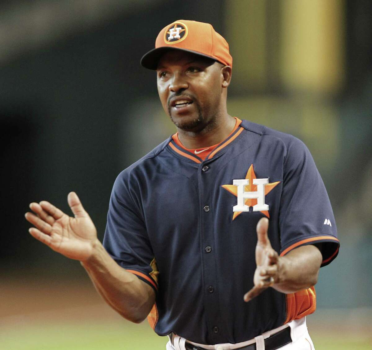 FILE - SEPTEMBER 1: According to reports September 1, 2014, the Houston Astros have fired manager Bo Porter. HOUSTON, TX - AUGUST 29: Bo Porter #16 of the Houston Astros throws batting practice before playing the Texas Rangers at Minute Maid Park on August 29, 2014 in Houston, Texas.