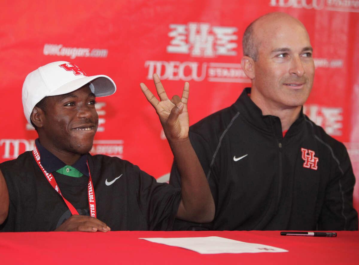 University of Houston head football coach Tony Levine on Friday, August 01, 2014. (AP Photo/The Courier, Alan Warren)