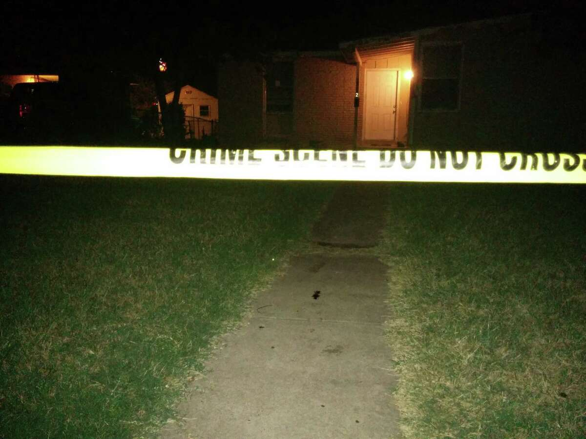 San Antonio Police investigate a house in the 4000 block of Silver Lake Drive where a man arrived with five stab wounds Tuesday night .