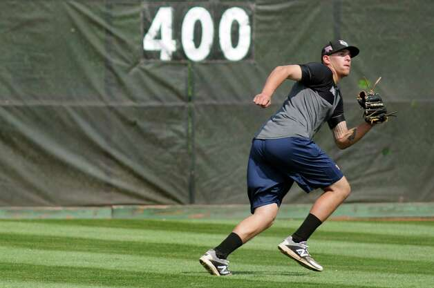 ValleyCats' pitcher Joe Musgrove shags balls in the outfield during practice on Tuesday, Sept. 2, 2014, at Bruno Stadium in Troy, N.Y. (Cindy Schultz / Times Union) Photo: Cindy Schultz / 00028413A