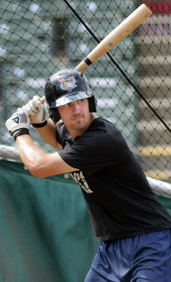 ValleyCats' Jamie Ritchie readies for the pitch during practice on Tuesday, Sept. 2, 2014, at Bruno Stadium in Troy, N.Y. (Cindy Schultz / Times Union) Photo: Cindy Schultz / 00028413A