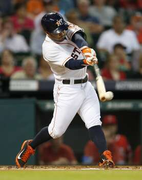 September 2: Astros 8, Rangers 3  Jose Altuve recorded his 5th four-hit game of the season as the Astros rolled the Angels in the opener of a two-game mini series in Houston.  Record: 60-79. Photo: Karen Warren, Houston Chronicle