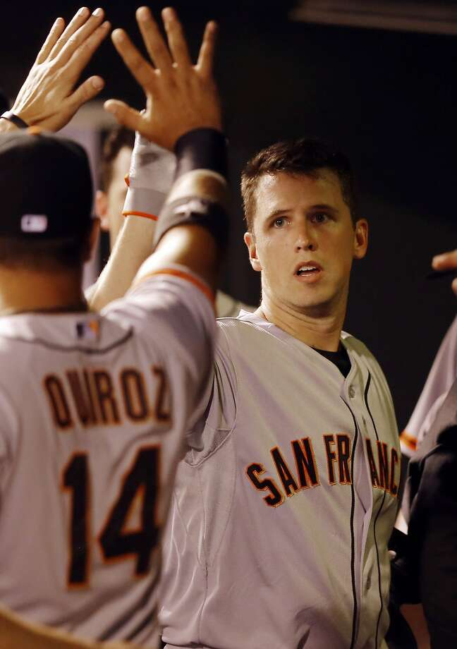 Buster Posey remained red-hot with two doubles and a homer. Photo: Jack Dempsey, Associated Press