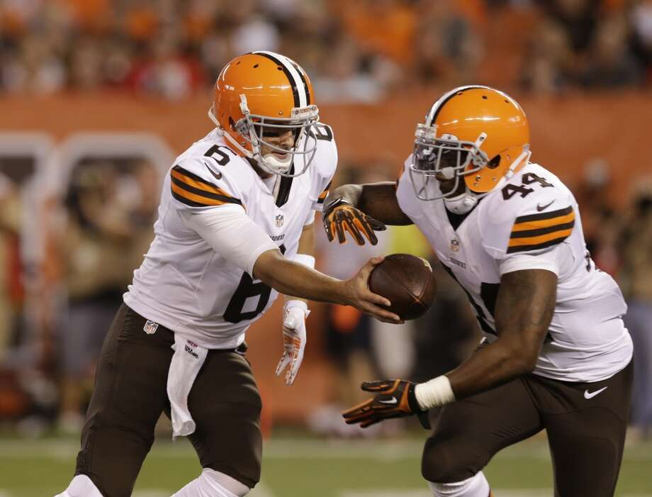 31. Cleveland (Last year: 4-12):   It doesn't matter who plays quarterback for the Browns. They don't have the kind of offensive weapons to consistently produce touchdowns. Photo: Tony Dejak, Associated Press