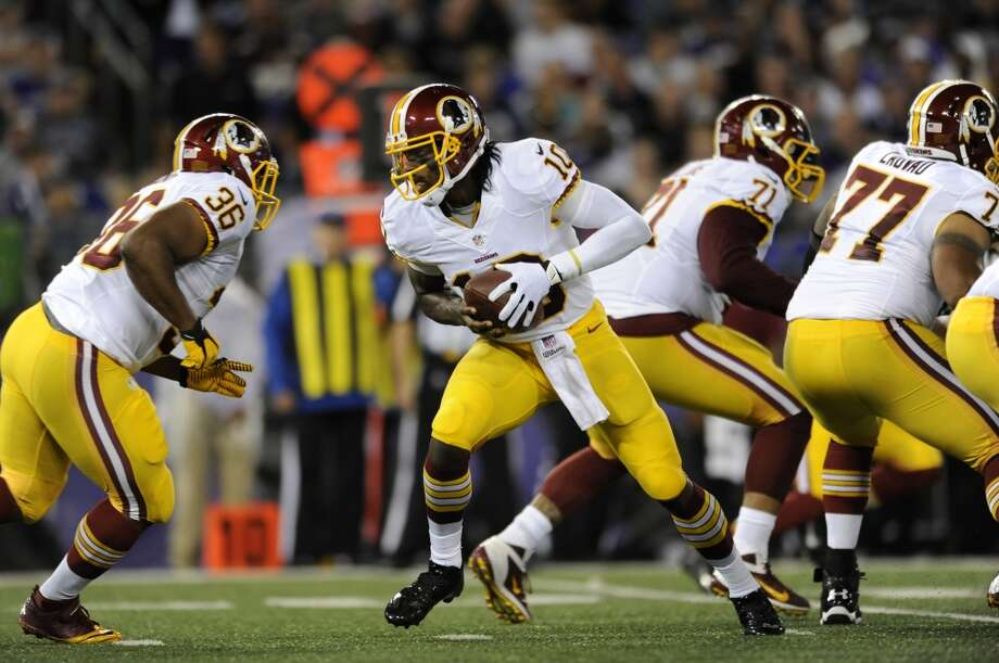 26. Washington (Last year: 4-12):   Coach Jay Gruden has to make sure his system fits the strengths of Robert Griffin III or the Redskins could have a big-time quarterback controversy. Photo: Gail Burton, Associated Press