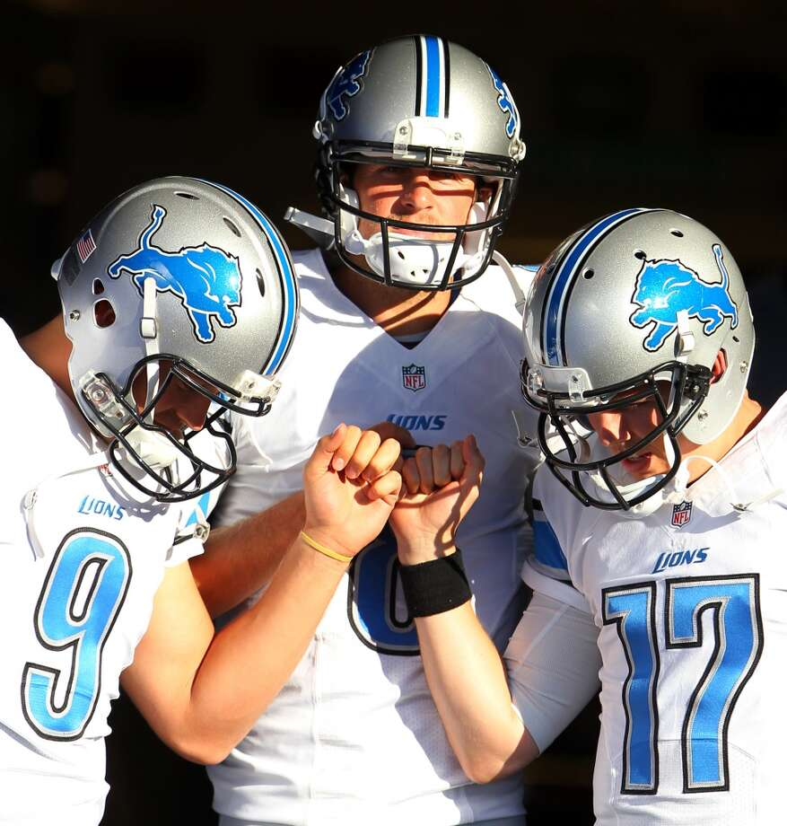 17. Detroit (Last year: 7-9):   New coach Jim Caldwell will rely heavily on Matthew Stafford, who's the only quarterback in franchise history to throw for at least 4,500 yards. Photo: Bill Wippert, Associated Press