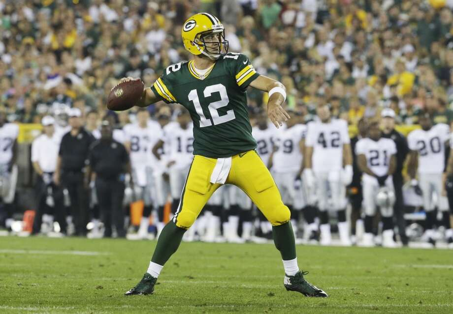 6. Green Bay (Last year: 8-7-1):   With a healthy Aaron Rodgers this season, the Packers should be good enough to win the division and contend for home-field advantage. Photo: Morry Gash, Associated Press