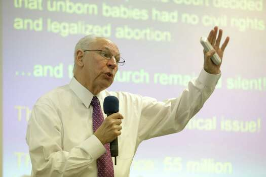 """During a July 23, 2014, segment on the radio show """"Faith and Liberty,"""" the Rev. Rafael Cruz responded to a question about whether President Barack Obama wanted to confiscate firearms: """"Well, of course, you have got to realize that is all about control. You look at history, Stalin took out the guns, then killed twenty million people; Mao took out the guns, then killed fifty million people. Every society where government has taken the guns away from the population, then they've used them against the population,"""" the liberal group Right Wing Watch reported.Pictured, Rafael Cruz, father of U.S. Sen. Ted Cruz (R-TX) speaks during a tea party gathering Friday, Jan. 10, 2014, in Madisonville, Texas. (AP Photo/Pat Sullivan) Photo: Pat Sullivan, File Photo / AP"""