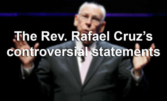 """Pastor Rafael Cruz, father of U.S. Sen. Ted Cruz, R-Texas, has a history of making controversial remarks.Sean Rushton, a spokesperson for Ted Cruz, told Mother Jones in 2013 that """"Pastor Cruz does not speak for the senator.""""Click through the slideshow to read Rafael Cruz's most contentious statements. (AP Photo/Charlie Neibergall) Photo: Charlie Neibergall, File Photo / AP"""