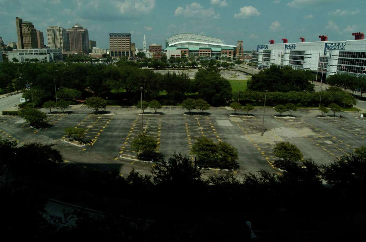 2006 view of the parking lots that became...