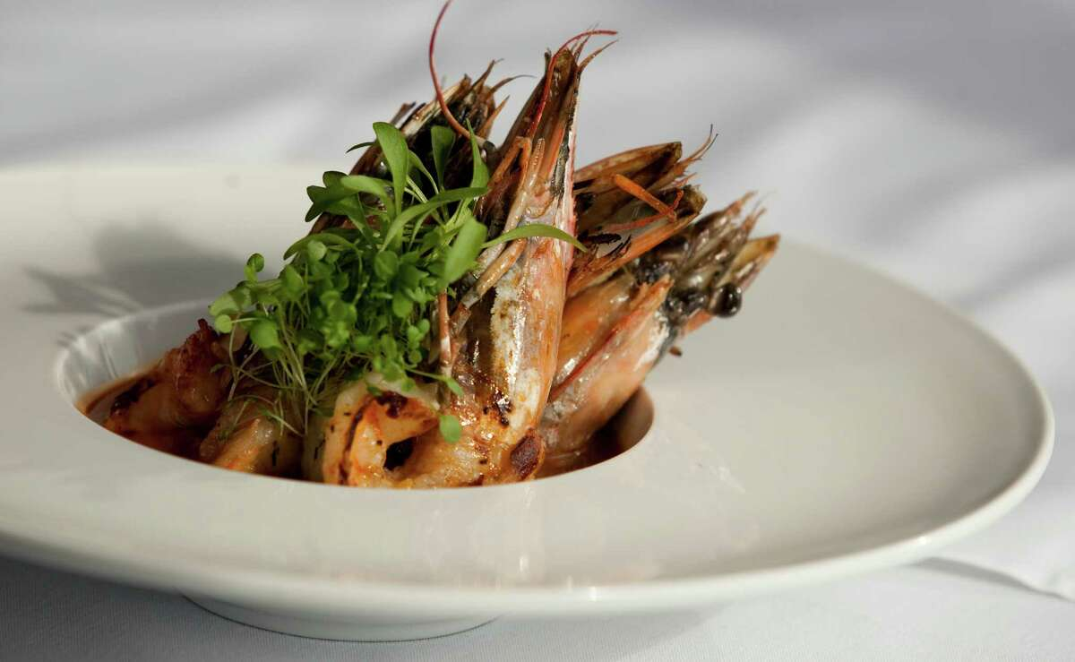 A Grilled Shrimp American is photographed at Kris Bistro and Wine Lounge on Friday January 20, 2012 in Houston, TX. (J. Patric Schneider/For the Chronicle)