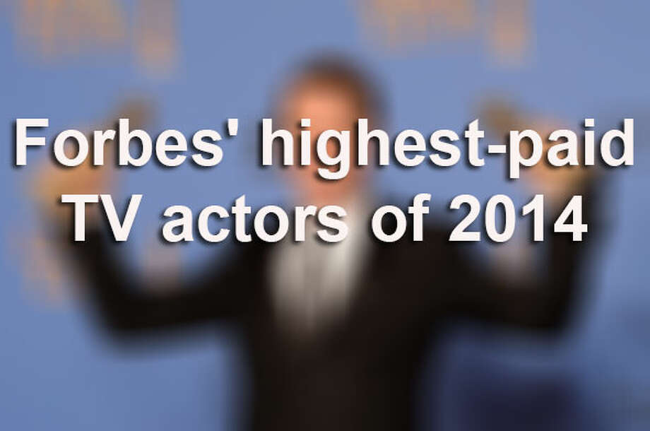 Forbes put together a list of the highest-paid TV actors. See who took the No. 1 spot in Forbes' list. / 2014 AFP