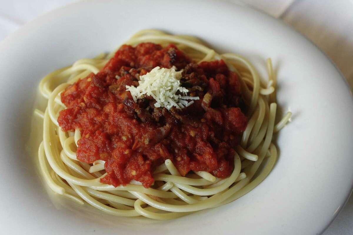 Mezzanotte Cuisine: Italian Dish: Bucantini Amatriciana Price Range: $$ Where: 13215 Grant, Cypress Phone:832-717-7870 Website: mezzanotte.tv