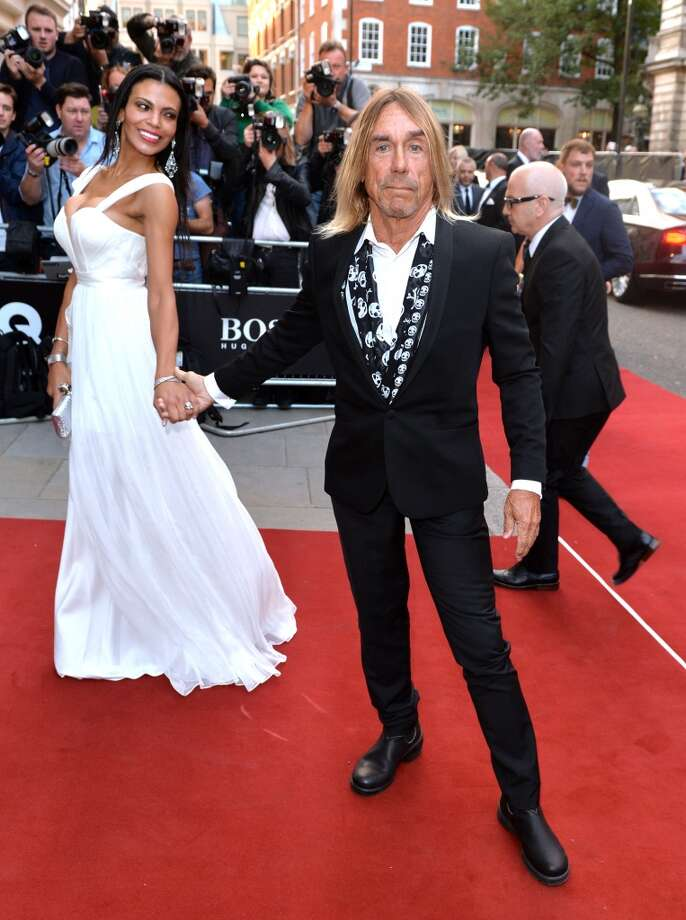 Iggy Pop and Nina Alu attend the GQ Men of the Year awards at The Royal Opera House on September 2, 2014 in London, England. Photo: Anthony Harvey, Getty Images