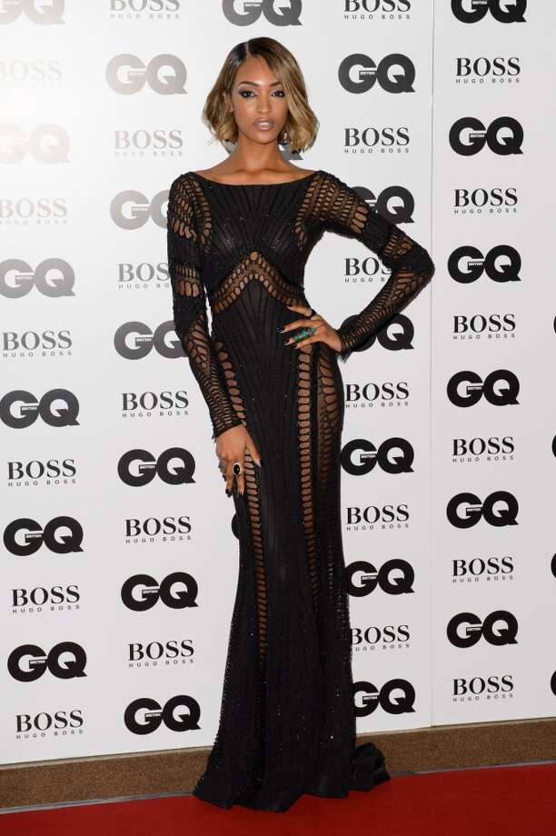 British model Jourdan Dunn arrives for the GQ Men Of The Year Awards 2014 at a central London venue, London, Tuesday, Sept. 2, 2014. Photo: Jonathan Short, Associated Press