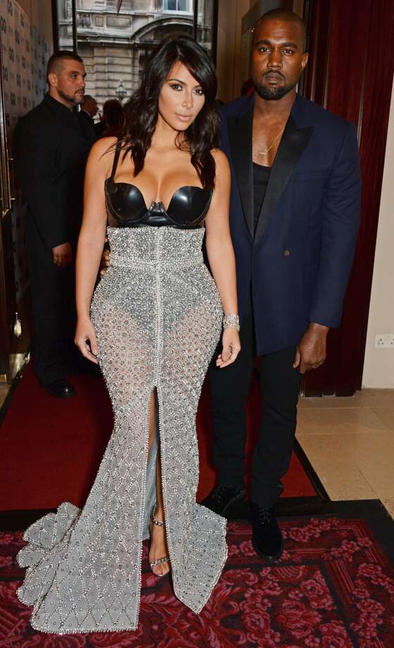 Kim Kardashian (L) and Kanye West attend the GQ Men Of The Year awards in association with Hugo Boss at The Royal Opera House on September 2, 2014 in London, England. Photo: David M. Benett, Getty Images