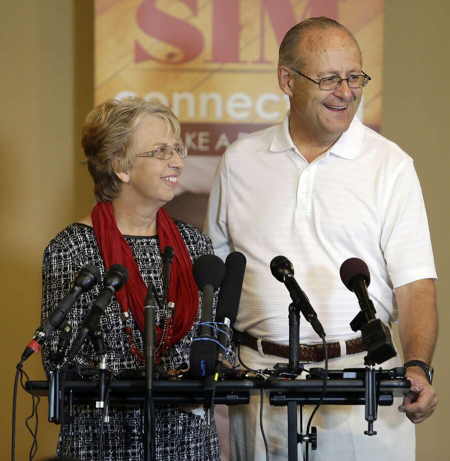 Nancy Writebol and her husband, David, both missionaries, had been in Liberia for a year working in a clinic when she contracted the Ebola virus. Photo: Bob Leverone, Associated Press