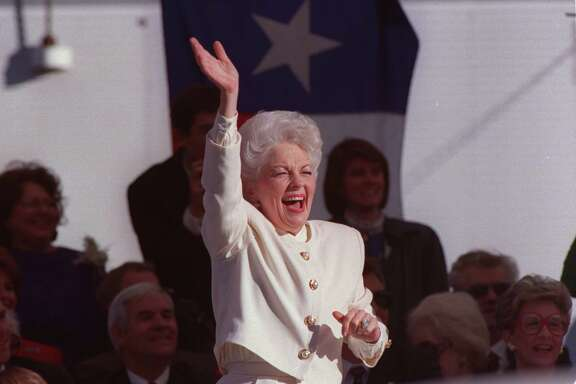 CONTACT FILED: ANN RICHARDS.  01/15/1991 - Ann Richards at her inauguration as Texas Governor in Austin, Texas.  HOUCHRON CAPTION (11/05/2000): Ann Richards in 1991   HOUSTON CHRONICLE SPECIAL SECTION/TEXAS MAGAZINE: 100 TALL TEXANS.