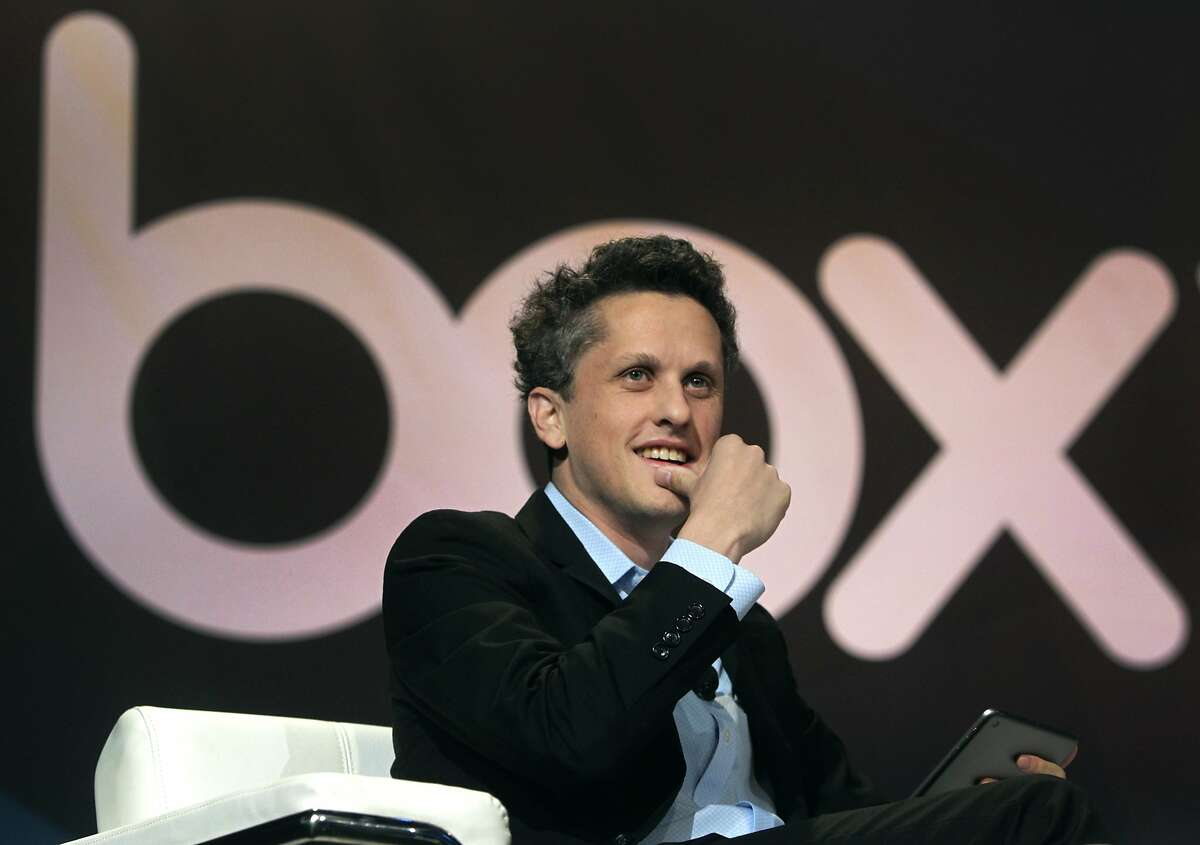 Aaron Levie, CEO and co-founder of Box, delivers a keynote speech at the cloud storage company's BoxWorks conference in San Francisco, Calif. on Wednesday, Sept. 3, 2014.