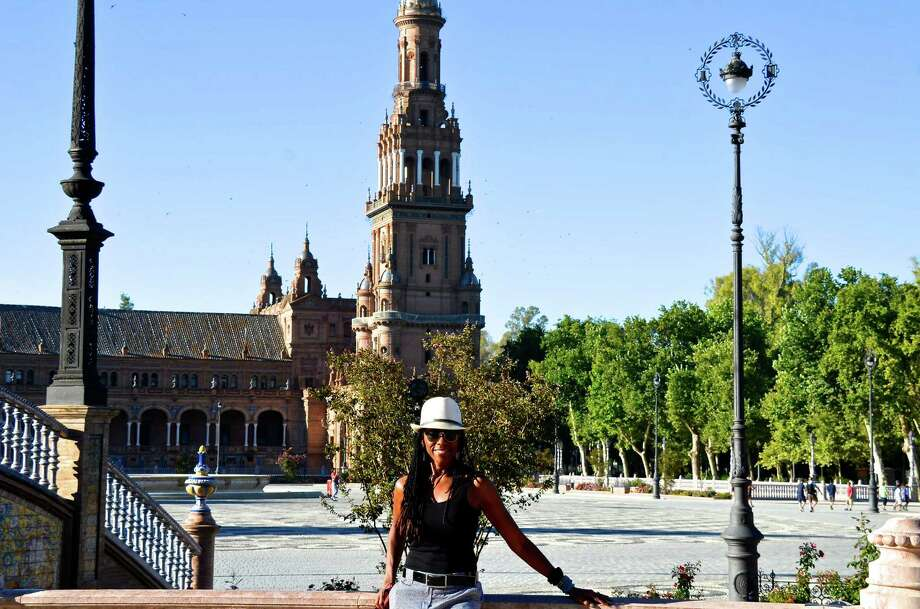 Chronicle reader Gerri Forte-Caster of Houston submitted this vacation photo of herself taken in Seville, Spain. Photo: Gerri Forte-Caster / Gerri Forte-Caster
