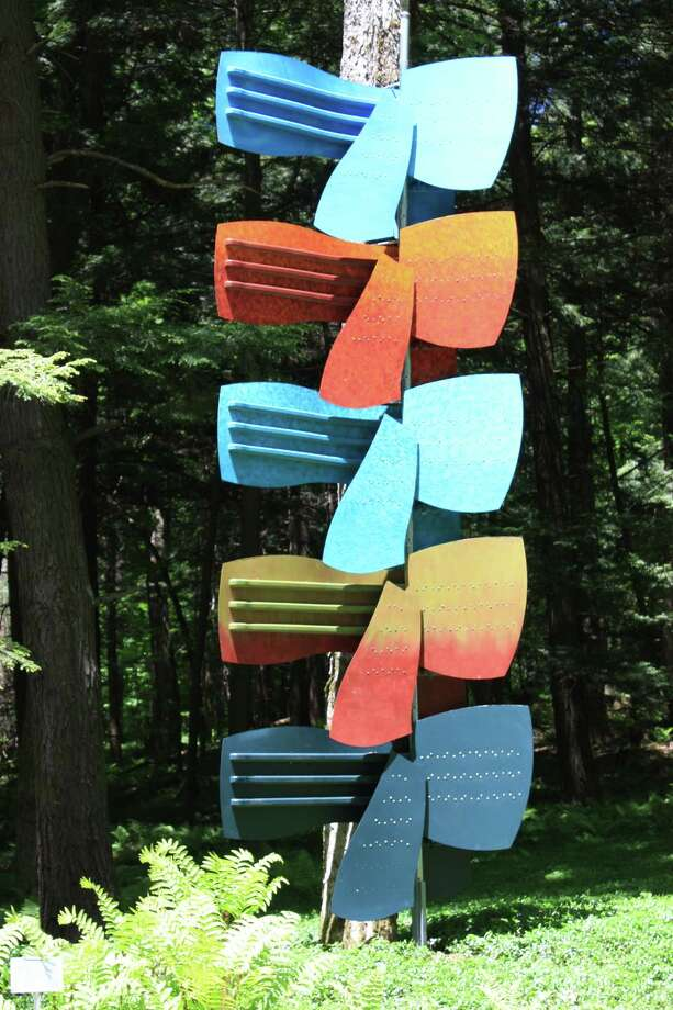 """""""Kimonos for Edith,"""" by Anthony Garner, on view at The Mount, Edith Wharton's historic estate in Lenox, Mass., through Oct. 31. (SculptureNow)"""