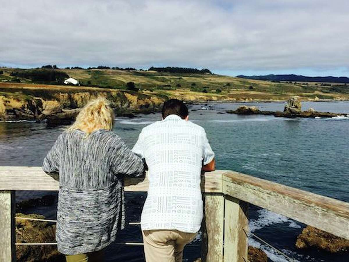 Classic charms Tranquil cove: A couple looks out at Whaler's Cove, on the south side of Pigeon Point near Pescadero. The scenic area was destined to be a bed-and-breakfast, with the shells of three buildings already completed, before Peninsula Open Space Trust bought the three-acre site in 2000 for nearly $2.65 million. The open space agency removed the buildings and later restored public access to the beach by installing a set of recycled redwood stairs.