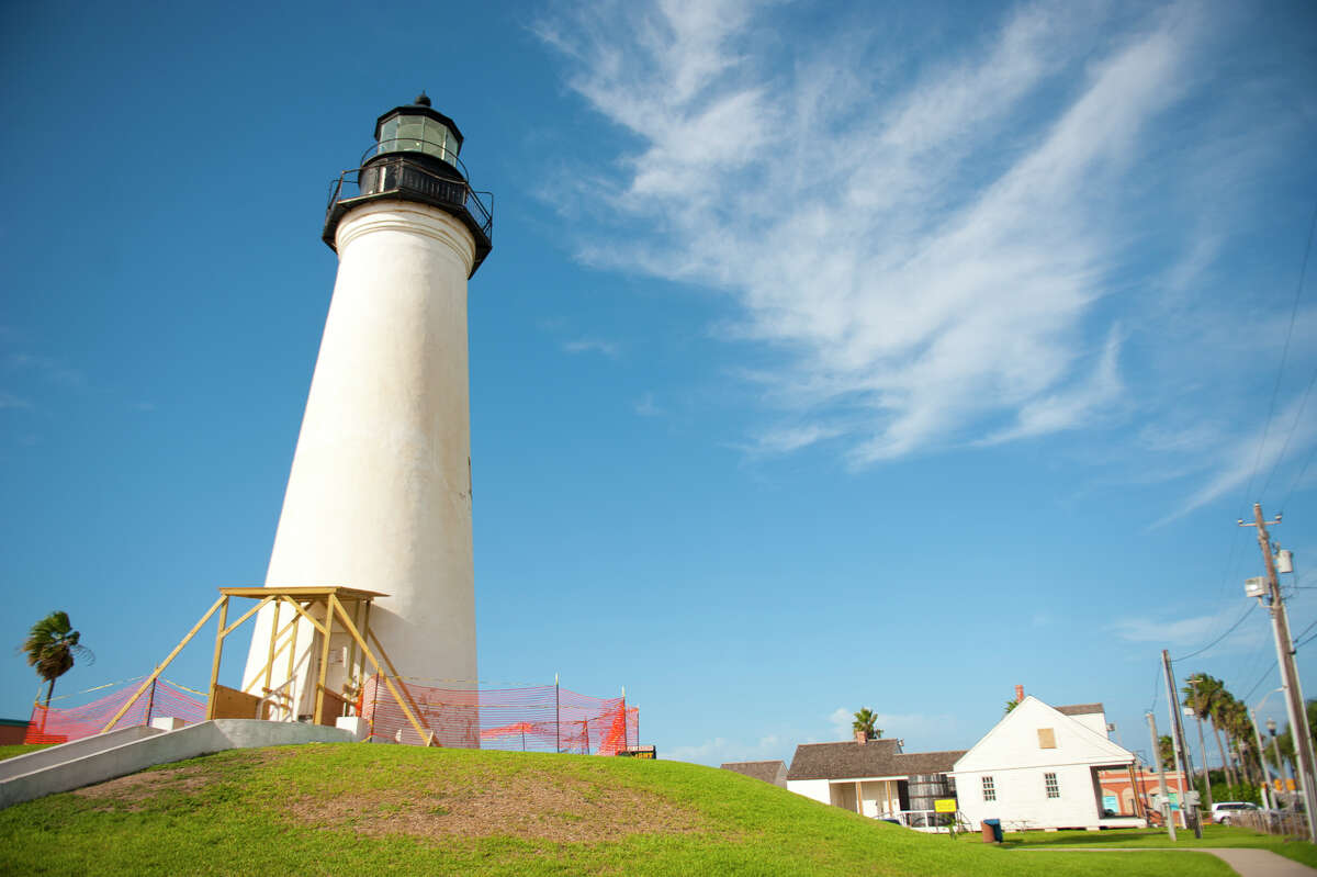 Parks that make you feel Texas pride The Port Isabel Lighthouse , built in 1852, underwent restoration to look as it did during the late 19th century. It was a Texas coast beacon until 1905. Visitors can climb to the top to see South Padre Island.