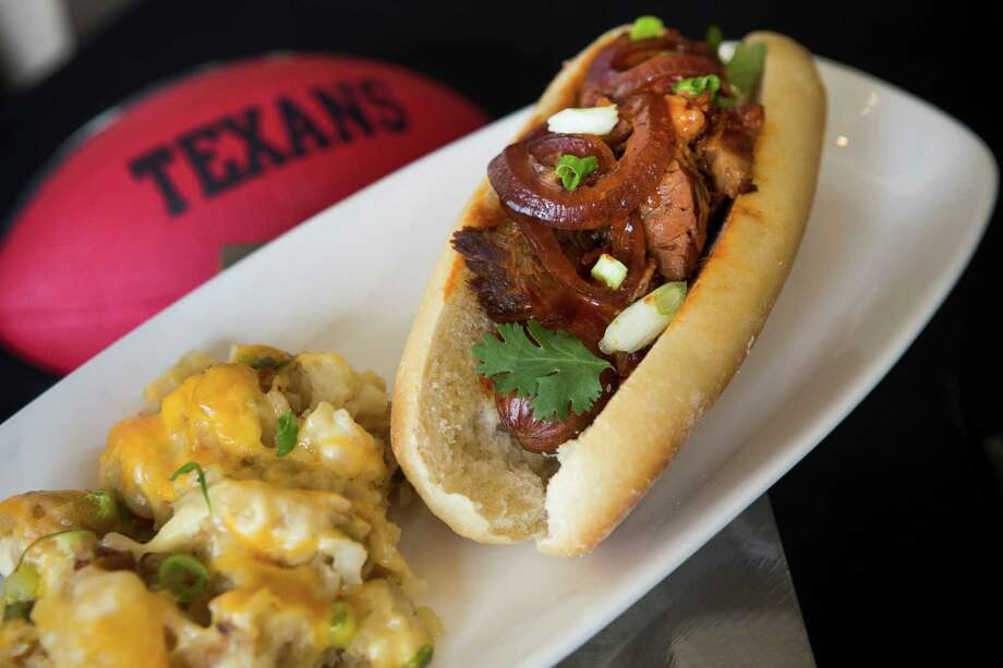 The Texas Two Step by Underbelly is shown during a preview of food and merchandise offerings this football season at NRG Stadium on Wednesday, Sept. 3, 2014, in Houston. Photo: Brett Coomer, Houston Chronicle / © 2014  Houston Chronicle