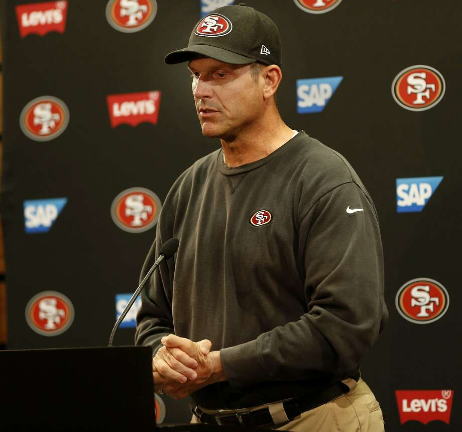 Head coach Jim Harbaugh said Wednesday that the 49ers have no tolerance for domestic abuse but that Ray McDonald deserved due process after being arrested. Photo: Brant Ward, The Chronicle