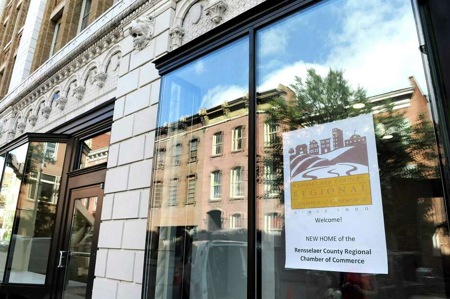 The new home of the Rensselaer County Chamber on Fourth Street on Wednesday, Sept. 3, 2014, at the Proctor Building in Troy, N.Y. (Cindy Schultz / Times Union) Photo: Cindy Schultz / 00028431A