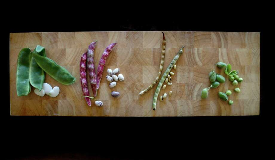 From left to right: Cannellini Beans, Cranberry Beans, Black Eyed Peas and Garbanzo Beans. Photo: Michael Macor, Staff / The Chronicle / ONLINE_YES