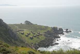 The Steep Ravine cabins are perched at Rocky Point on Marin  Coast
