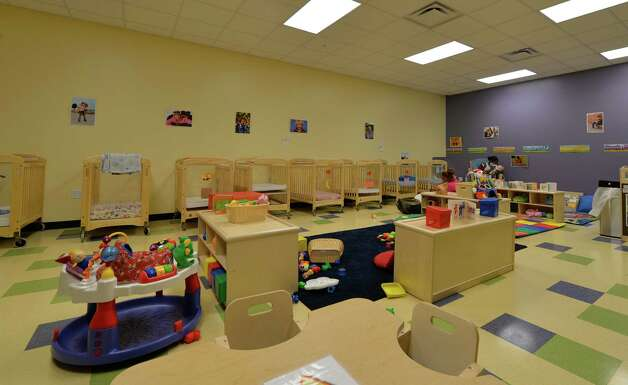 Interior view of one of nursery at the Early Childhood Center  on Grand Opening Day Wednesday Sept. 3, 2014 in Albany, N.Y.   (Skip Dickstein/Times Union) Photo: SKIP DICKSTEIN / 00028433A