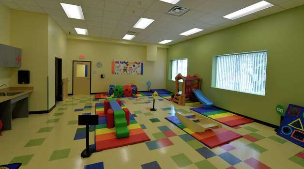 Interior view of the gym at the Early Childhood Center  on Grand Opening Day Wednesday Sept. 3, 2014 in Albany, N.Y.   (Skip Dickstein/Times Union) Photo: SKIP DICKSTEIN / 00028433A