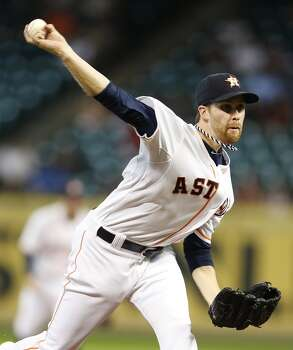 September 3: Astros 4, Angels 1  Collin McHugh turns in a gem to lead Houston to a series win over the likely playoff-bound Angels.  Record: 61-79. Photo: Karen Warren, Houston Chronicle