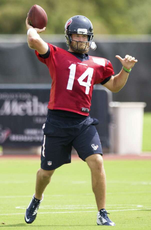 Ryan Fitzpatrick, in his 10th season in the NFL, is the latest in a long line of quarterbacks to suit up for Houston. He's expected to be a short-term solution during a rebuilding season. Photo: Brett Coomer / Houston Chronicle / © 2014 Houston Chronicle