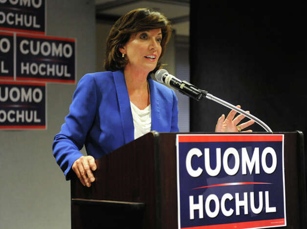Lt. Governor candidate Kathy Hochul speaks at a Capital Region democratic rally for the Cuomo/Hochul ticket on Wednesday, Sept. 3, 2014 in Albany, N.Y.  (Lori Van Buren / Times Union) Photo: Lori Van Buren, Albany Times Union / 00028453A