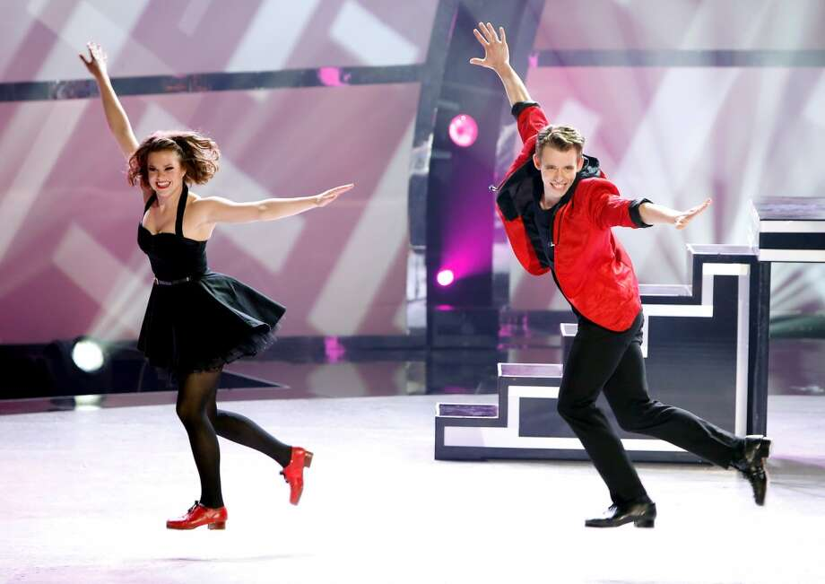 "SO YOU THINK YOU CAN DANCE: SEASON 11 FINALE: L-R: Top 4 contestants Valerie Rockey and Zack Everhart Jr. perform a Tap routine to ""Sing"" choreographed by Anthony Morigerato on SO YOU THINK YOU CAN DANCE airing Wednesday, September 3 (8:00-10:00 PM ET/PT) on FOX. ©2014 FOX Broadcasting Co. Cr: Adam Rose"