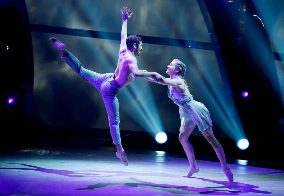 "SO YOU THINK YOU CAN DANCE: SEASON 11 FINALE: Top 4 contestants Jessica Richens (R) and Ricky Ubeda perform a Jazz routine to ""Vow"" choreographed by Sonya Tayeh on SO YOU THINK YOU CAN DANCE airing Wednesday, September 3 (8:00-10:00 PM ET/PT) on FOX. ©2014 FOX Broadcasting Co. Cr: Adam Rose"