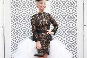 Sonya Molodetskaya wears a gown by Vasily Vein at the San Francisco Symphony Opening Night Gala which she accessorized with a On Aura Tout Vu clutch, Azzedine Alaia heels and a crown of feathers by Victoria Grand in San Francisco on Wednesday, Sept. 3, 2014.