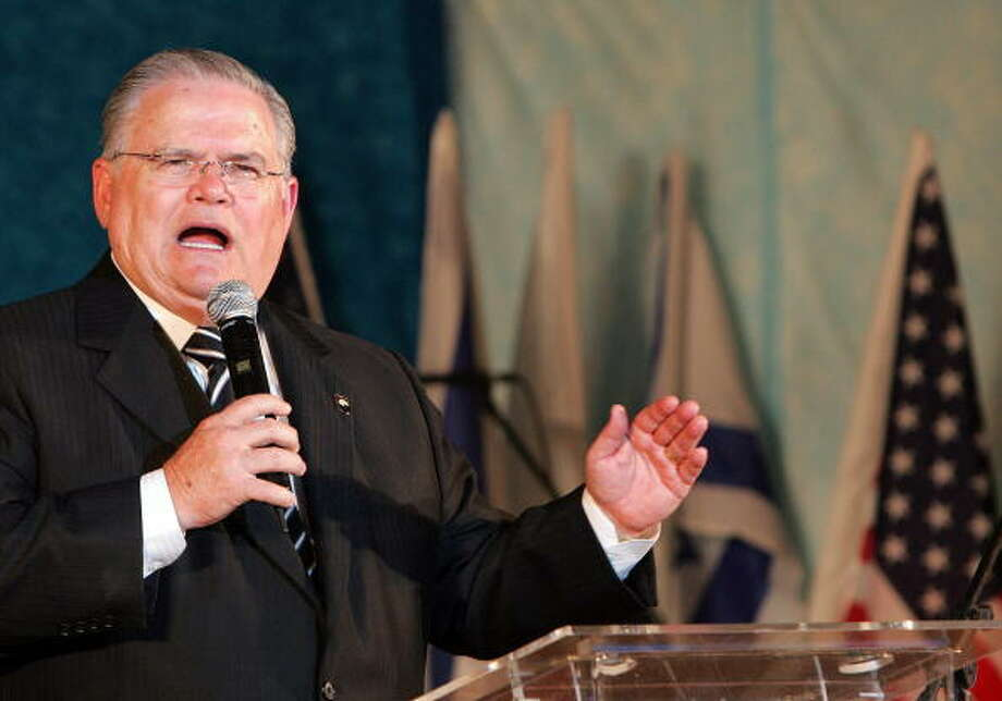 "Ebola may be part of God's judgment for President Barack Obama's alleged attempts to ""divide Jerusalem,"" said John Hagee, a San Antonio-based pastor and founder of Christians United For Israel. Photo: JACK GUEZ, Getty Images / 2008 AFP"