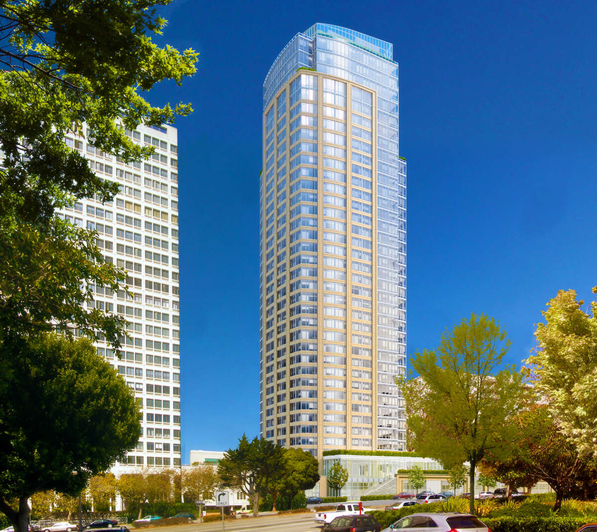 The proposed tower at 1481 Post Street in San Francisco.