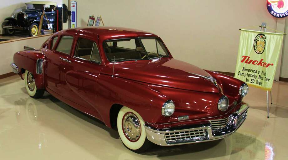 "Dick's Classic Garage is home to the ""lowest mileage Tucker (shown) in the world,"" a 1948 beauty with a half mile on the odometer. The car was one of 51 made and one of the very last off the factory line."
