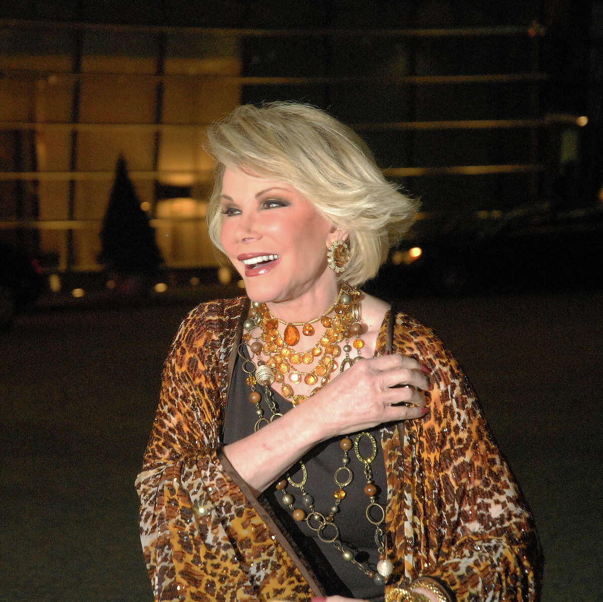Joan Rivers attends the wedding of Howard Stern and Beth Ostrosky at Le Cirque on October 3, 2008 in New York City.